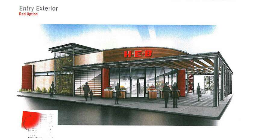 A conceptual drawing of the downtown H-E-B, released in 2013.