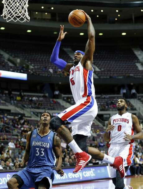 Josh Smith, who joined the Pistons over the summer, had 20 points, including the game-winner vs. Minnesota. Photo: Paul Sancya / Associated Press