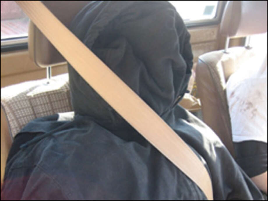 If your carpool friend looks like this, you've got a problem. The driver carting around this stuffed coat had swerved suddenly from an HOV lane on I-405 near Woodinville, arousing the suspicions of a trooper in 2011. Photo: Washington State Patrol Via KOMO