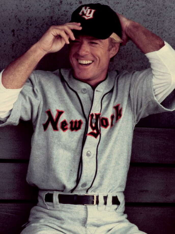 American actor Robert Redford stars as baseball player Roy Hobbs in the film 'The Natural', 1983. (Photo by Juergen Vollmer/Redferns/Getty Images) Photo: Juergen Vollmer, Redferns / 2010 Getty Images