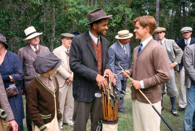 """""""Legend of Bagger Vance"""" –Devastated by his experiences during World War I, once-promising golfer Rannulph Junuh has become a poker-playing alcoholic whose perfect swing is gone -- until mysterious caddy Bagger Vance enters the picture to help Junuh make a comeback.Available Now! Photo: Getty Images / Hulton Archive"""