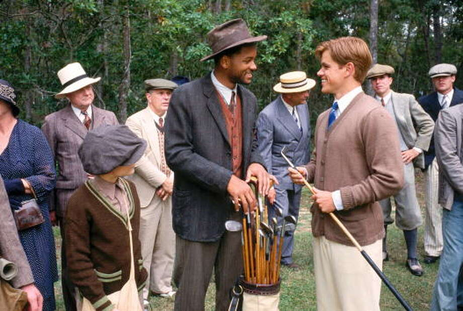 368219 07: Actor Will Smith as Bagger Vance and Matt Damon as Rannulph Junuh, right, take heart as Junuh's game steadily improves in Robert Redford's The Legend of Bagger Vance, to be distributed domestically by DreamWorks. (Photo by David James/Newsmakers) Photo: Getty Images / Hulton Archive