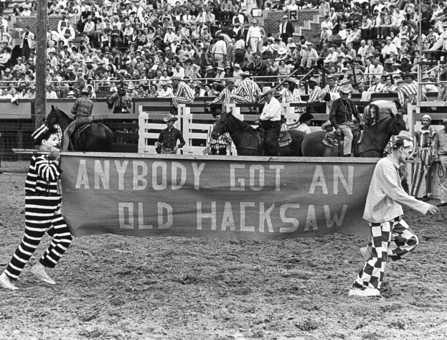 Rodeo clowns at the 1965 Texas Prison Rodeo Photo: Don Jones, Houston Chronicle