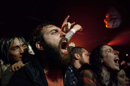Gwar fans rock with the band. Photo: Marie D. De Jesús, Houston Chronicle