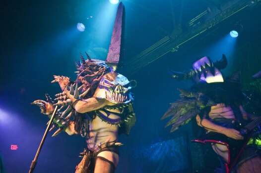 Lead singer Oderus Urungus, played by Dave Brockie of the satirical heavy metal band Gwar at Warehouse Live, Thursday, Oct. 24. Photo: Marie D. De Jesús, Houston Chronicle