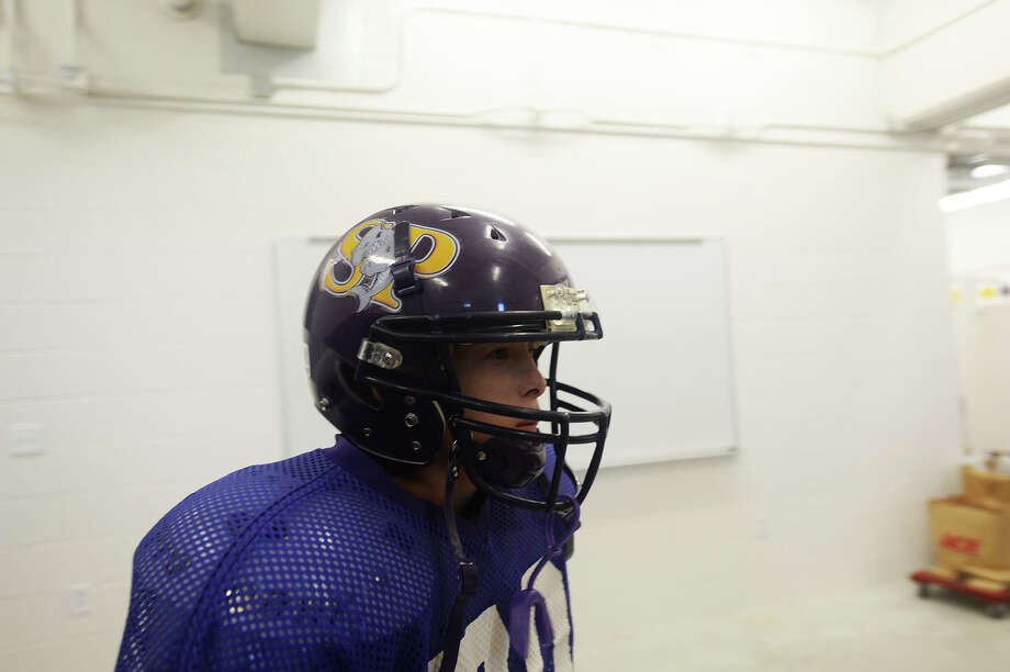 Since 2008, the Sabine Pass football team has been without a field house due to Hurricane Ike, which destroyed the previous field house in 2008. Following Wednesdays practice, the Sabine Pass football team were given the okay to move into their newly constructed field house. Michael Rivera/The Enterprise