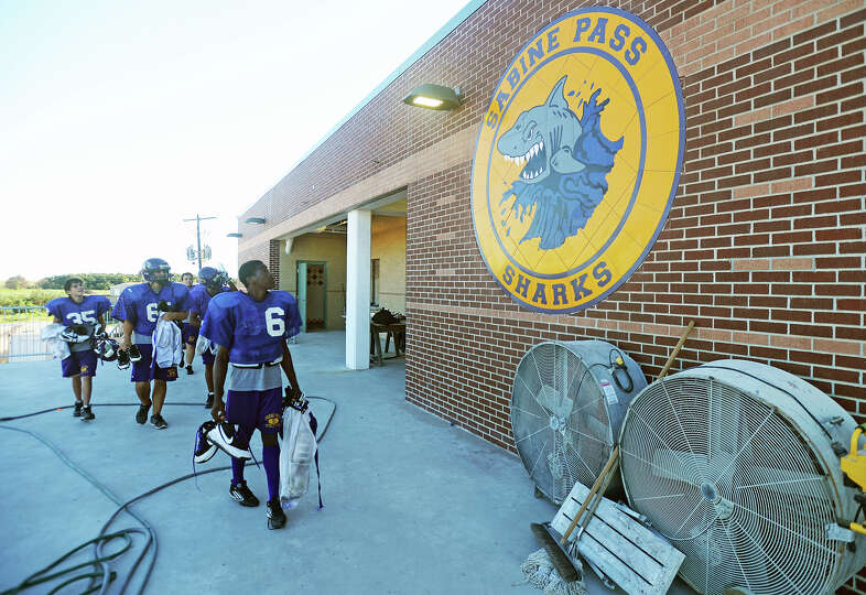Since 2008, the Sabine Pass football team has been without a field house due to Hurricane Ike, which
