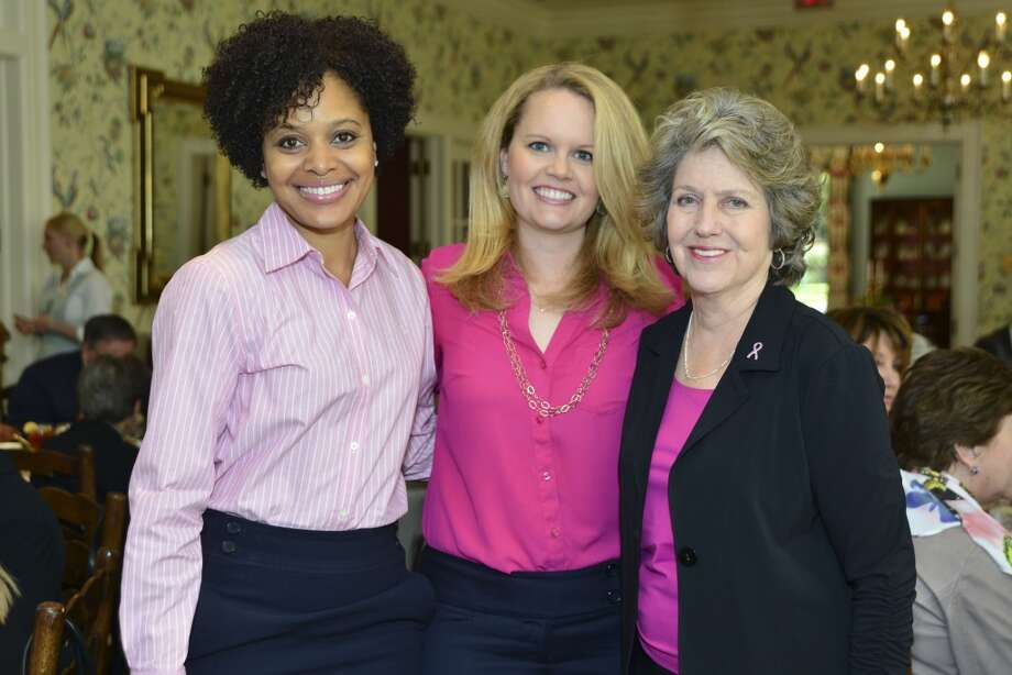 American Cancer Society's Tickled Pink Luncheon at the Junior League of Houston. Pamela Greenwood, Sheree Prather, Shirley Presley. Photo: CatchLight Group