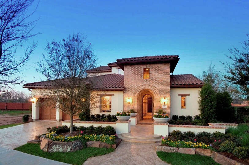 The Mediterranean Luxury Patio Home Series From Darling Homes Features A Rotu