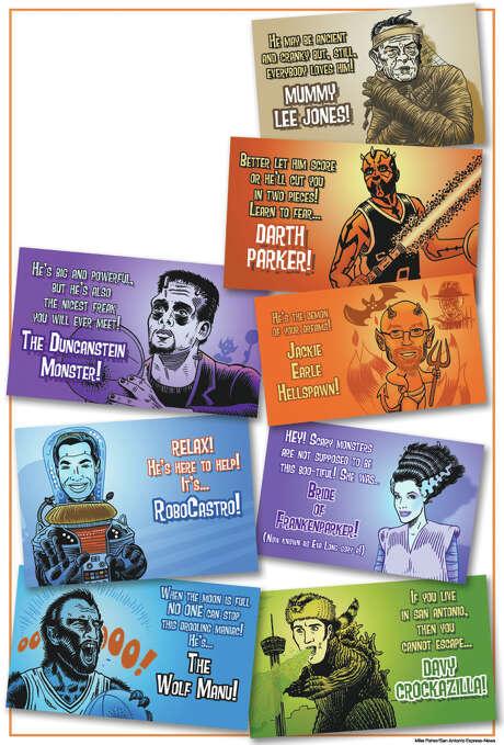 Halloween celebrities 102613 Photo: Mike Fisher, San Antonio Express-News
