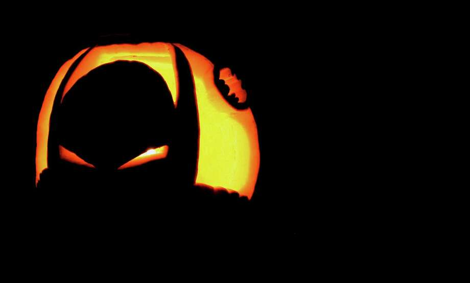 A Batman pumpkin carved by John Breunig. Photo: John Breunig, The (Stamford) Advocate / Stamford Advocate File Photo