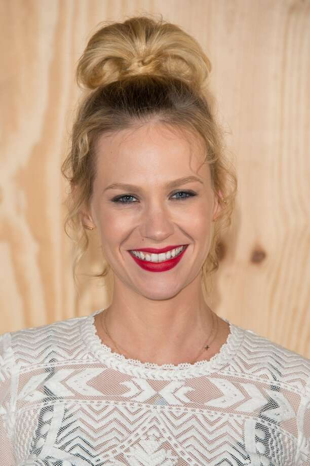 January Jones attends the  'Isabel Marant For H&M' : Photocall At Tennis Club De Paris on October 24, 2013 in Paris, France. Photo: Dominique Charriau, WireImage