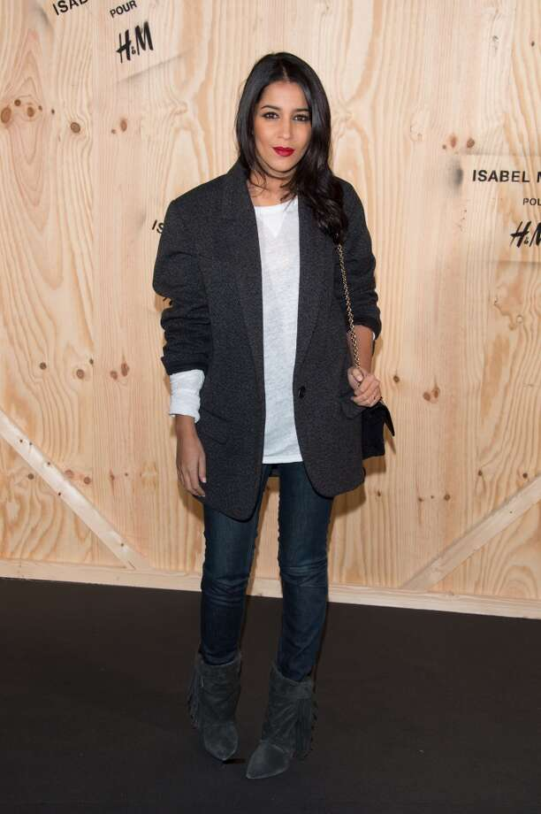 Leila Bekhti attends the  'Isabel Marant For H&M' : Photocall At Tennis Club De Paris on October 24, 2013 in Paris, France. Photo: Dominique Charriau, WireImage