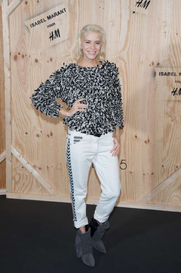 Elena Perminova attends the  'Isabel Marant For H&M' : Photocall At Tennis Club De Paris on October 24, 2013 in Paris, France. Photo: Dominique Charriau, WireImage