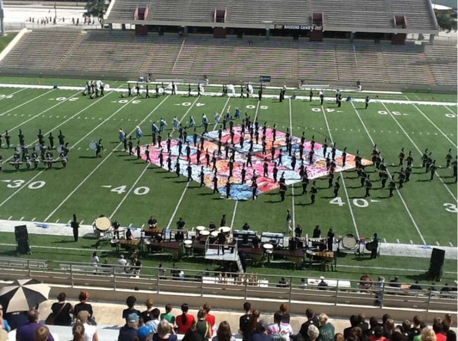 """The Cypress Ranch High School marching band performs its 2013 show, """"Bohemian Rhapsody in Blue,"""" at the UIL Region 27 Marching Contest at the Berry Center on Oct. 19 Photo: Photo By Cypress-Fairbanks Independent School District"""