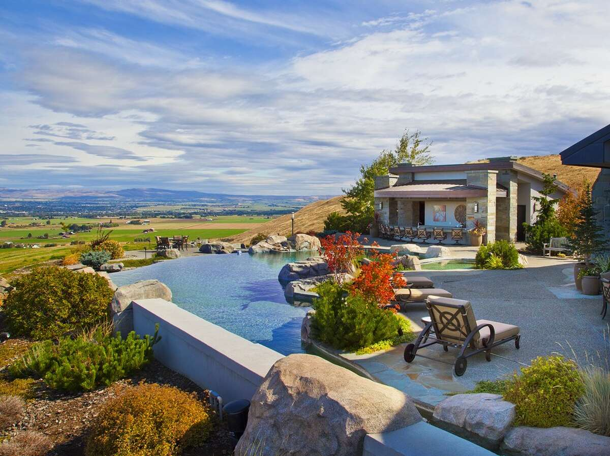 Patio of 280 Orrion Road, in Ellensburg. It's listed for $11.5 million.