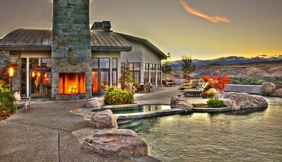 Patio of 280 Orrion Road, in Ellensburg. It's listed for $11.5 million. Photo: Michael Walmsley, Courtesy Ewing & Clark