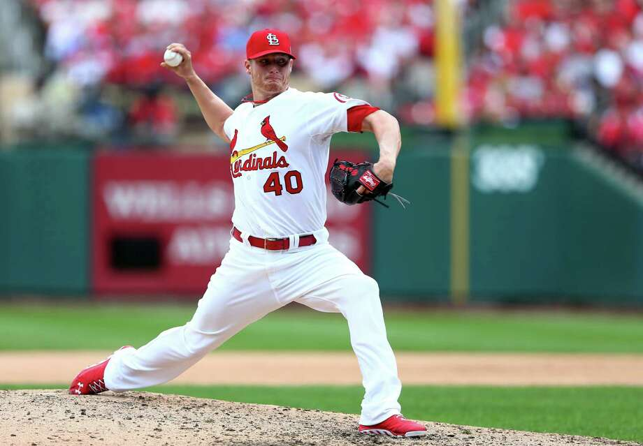St. Louis Cardinals SP Shelby Miller: Rookie was the Cardinals' No. 1 pick in 2009 out of Brownwood High School. Now 23, he was 15-9 with a 3.06 ERA in the rotation this season, but he's in the bullpen for the playoffs. Photo: Elsa, Getty Images / 2013 Getty Images