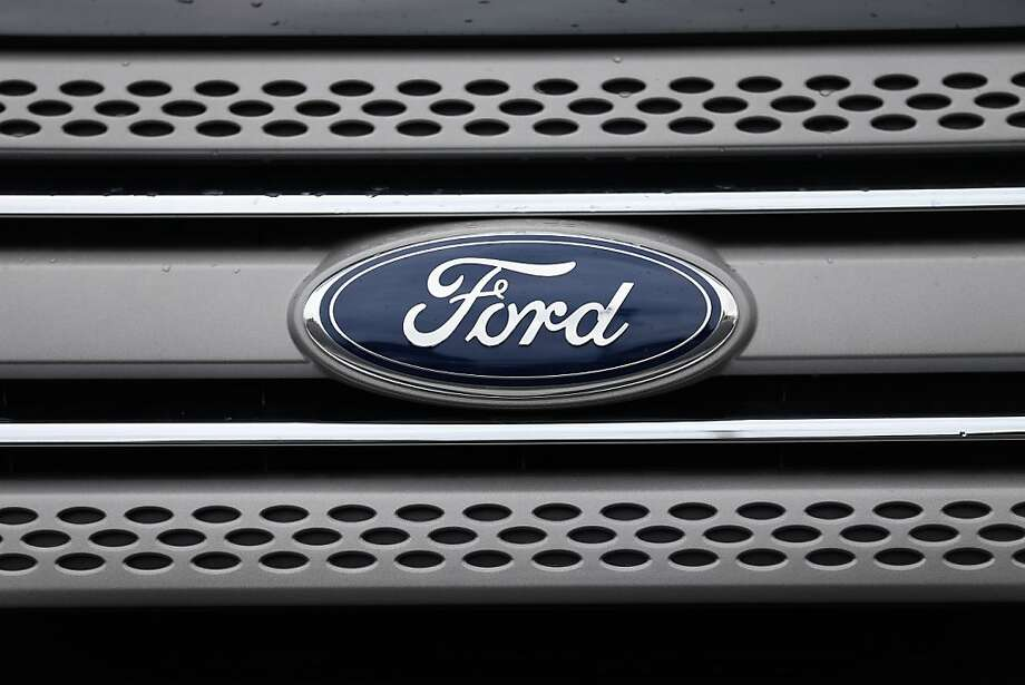 NORTH MIAMI, FL - OCTOBER 24:  A Ford emblem is seen on a vehicle on the sales lot at AutoNation Ford Miami on October 24, 2013 in North Miami, Florida. Ford announced a record third-quarter pretax profit of $2.6 billion beating analysts' expectations.  (Photo by Joe Raedle/Getty Images) Photo: Joe Raedle, Getty Images