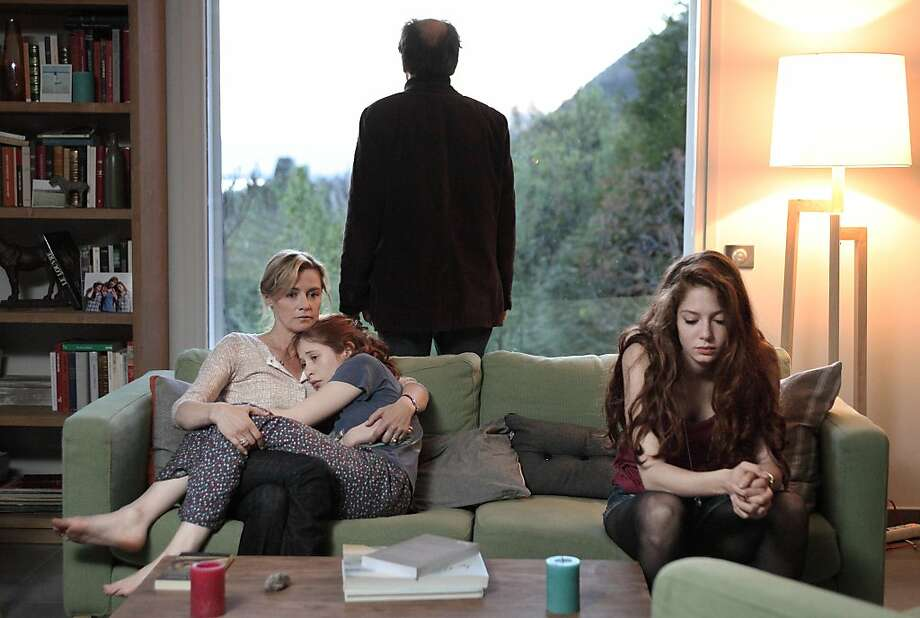 "L to R, Anne Consigny, Yara Pilartz, FrŽdŽric Pierrot, and Jenna Thiam in the Sundance Channel series ""The Returned"" Photo: Jean-claude Lother, Sundance Channel"