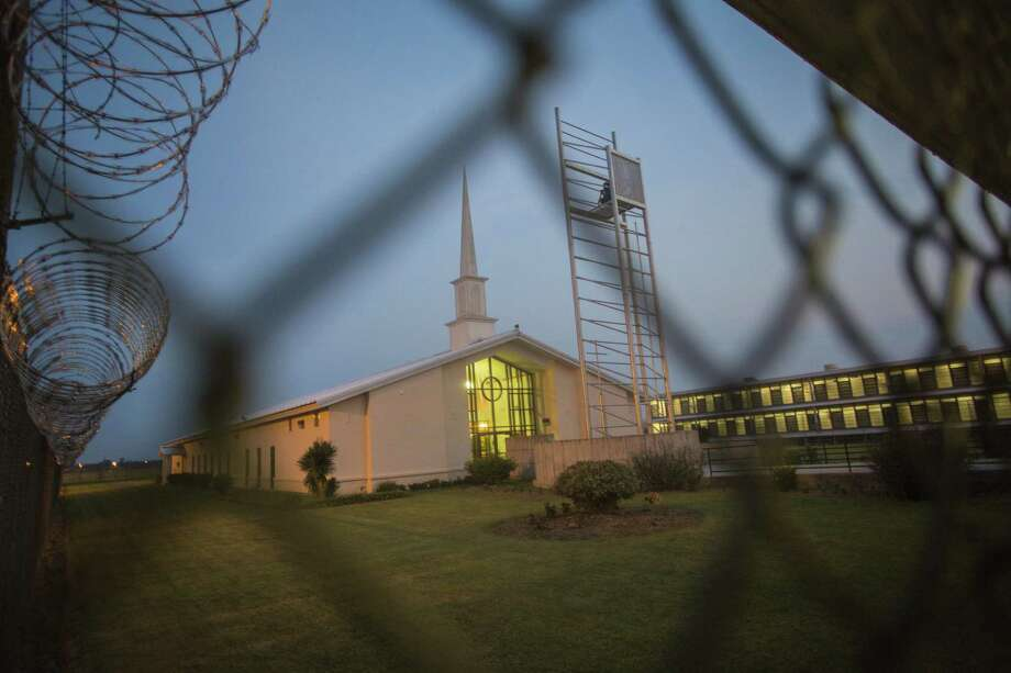 The Leadership Village church at the Louisiana State Penitentiary in Angola, La. The Southern Baptist Bible college inside the penitentiary offers bachelor's degrees in a rigorous four-year course that includes study of Greek and Hebrew. Photo: Photos By Angel Franco / New York Times