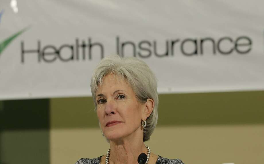 U.S. Health and Human Services Secretary Kathleen Sebelius promises to review the perfor- mance of contractors who helped build the government's problemriddled online health exchange. Photo: Eric Gay, Associated Press