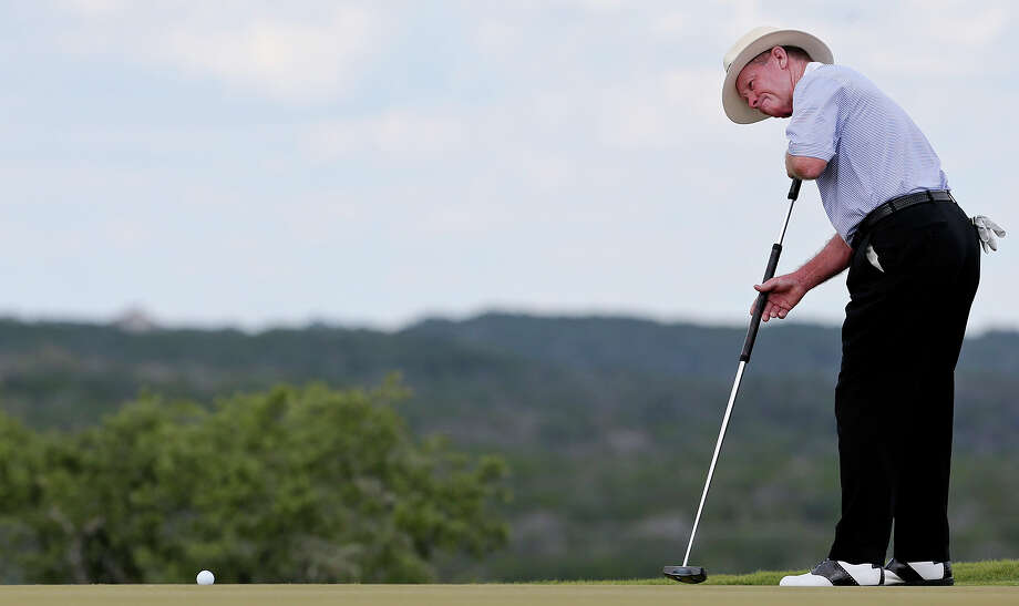 Tom Kite putts on No. 17 during the first round of the AT&T Championship held Friday Oct. 25, 2013 on the AT&T Canyons Course at TPC San Antonio. Photo: Edward A. Ornelas, San Antonio Express-News / © 2013 San Antonio Express-News