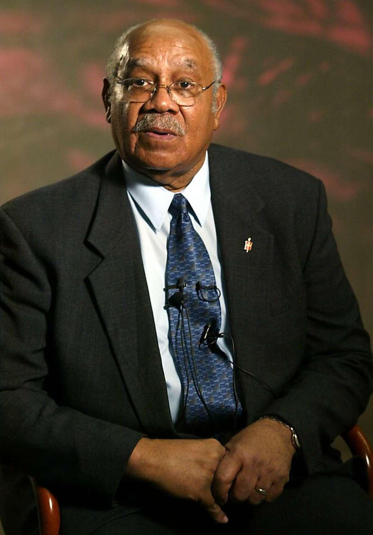 United Methodist Bishop Melvin Talbert talks to a journalist at the Vanderbilt University Divinity school in Nashville, Tenn., Wednesday, Jan. 29, 2003. Talbert will appear in an anti-war commercial aimed at persuading President Bush, a fellow Methodist, that a U.S. attack on Iraq would violate ``God's law.'' (AP Photo/Neil Brake) Ran on: 06-16-2004 Ran on: 06-16-2004 Melvin Talbert is a top bishop of President Bush's church. Ran on: 06-16-2004 Melvin Talbert is a top bishop of President Bush's church.
