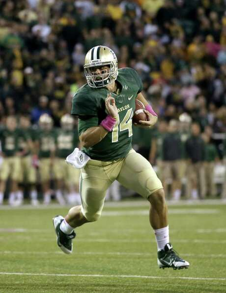 QB Bryce Petty will lead Baylor against Kansas secondary that has held its own this season. Photo: Tony Gutierrez / Associated Press