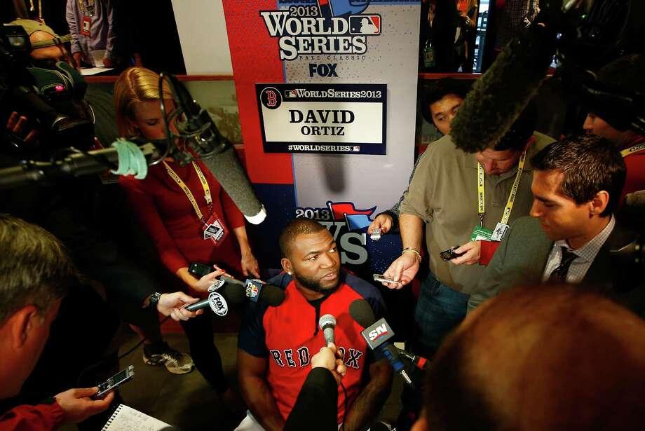 Red Sox slugger David Ortiz will play first base tonight.