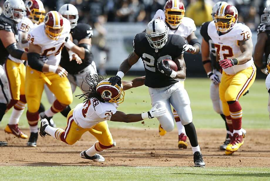 Raiders back Darren McFadden, rested from the bye week, says he's ready for Pittsburgh's physical brand of play. Photo: David Seelig, Associated Press