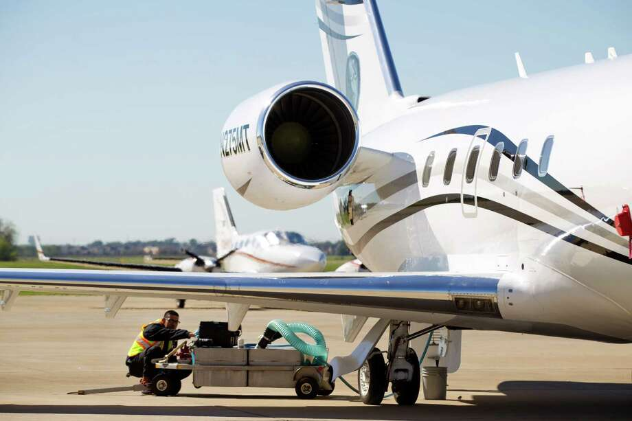 Houston has the second highest density of millionaires in the United States, according to a new ranking, beating out rival Dallas and west coast hubs like Los Angeles and San Francisco. Take a look at the richest of the rich in Houston.In this photo, a private jet is fueled at the Sugar Land Regional Airport, Oct. 24, 2013. Sugar Land airport is one of the airports where corporations and millionaires fly from in the Houston area. ( Brett Coomer / Houston Chronicle ) Photo: Brett Coomer, Staff / © 2013 Houston Chronicle
