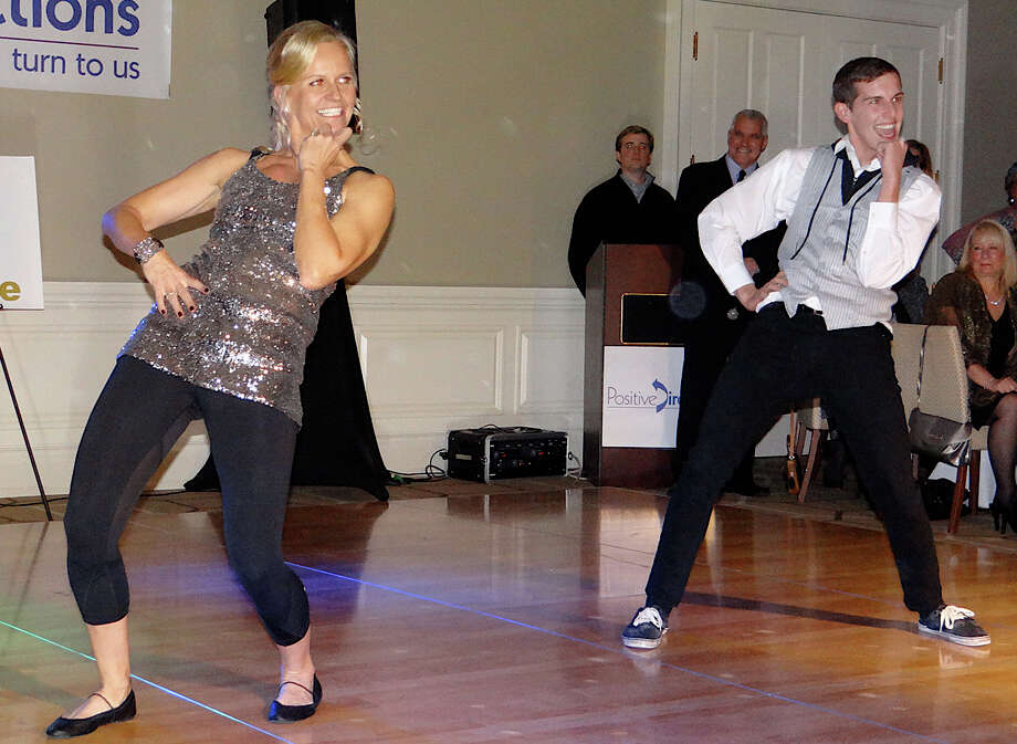 "Louise Baldwin and Danny Ballero hit the dance floor at ""A Chance to Dance"" benefiting Positive Directions on Friday night at the Patterson Club in Fairfield. Photo: Mike Lauterborn / Fairfield Citizen contributed"