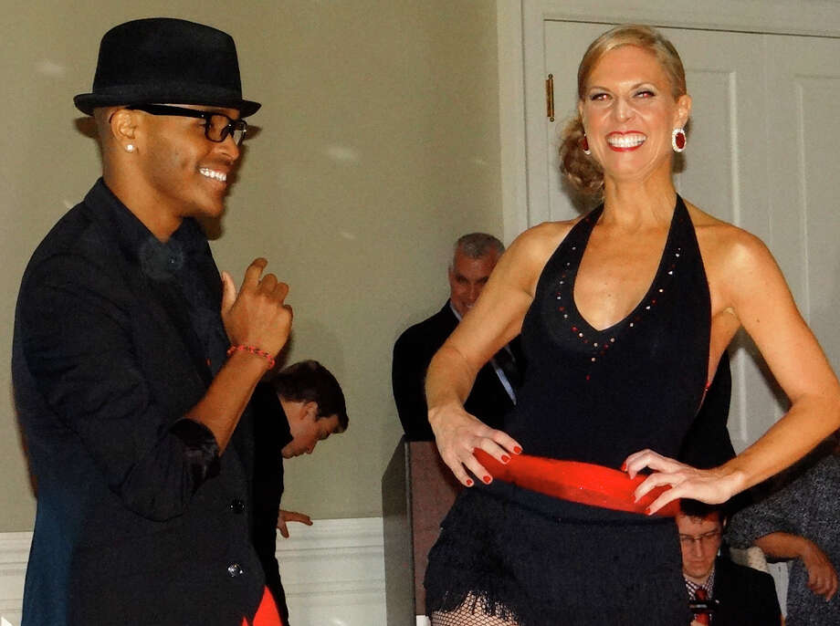 """Paul Herman and Tracey Kane on the dance floor Friday night for the Positive Directions' """"A Chance to Dance"""" benefitin Fairfield. Photo: Mike Lauterborn / Fairfield Citizen contributed"""