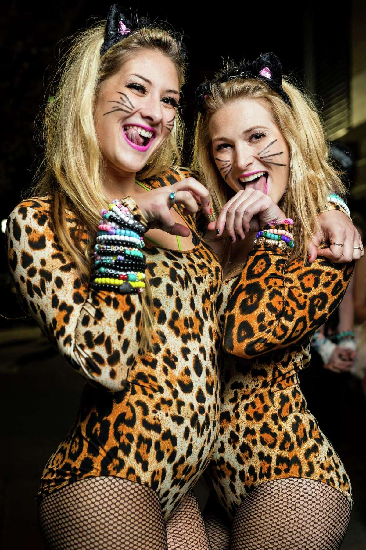 Costumes ranged from sinister to cute on FreakNight attendees Friday, Oct. 25, 2013, outside of WaMu Theater in Seattle.