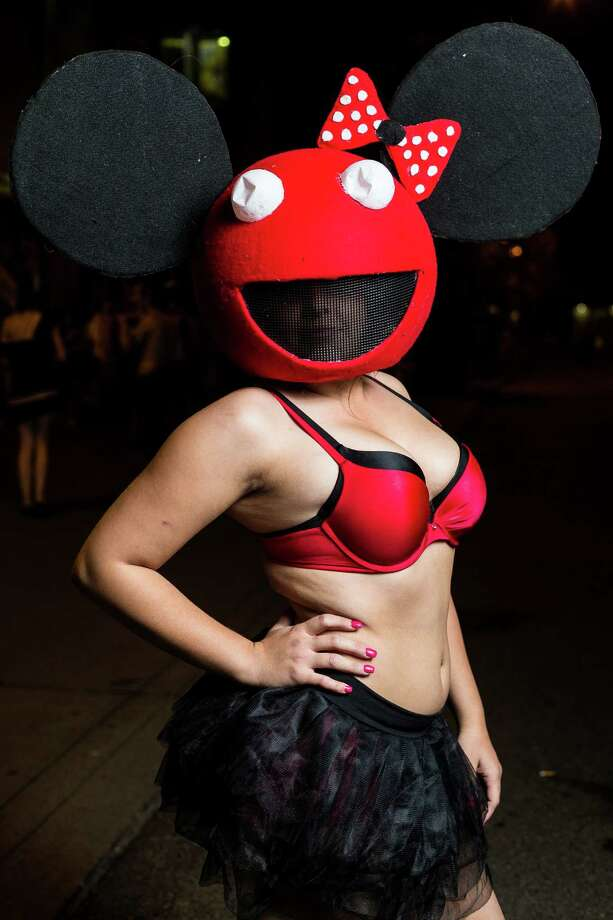 Costumes ranged from sinister to cute on FreakNight attendees Friday, Oct. 25, 2013, outside of WaMu Theater in Seattle.  Photo: JORDAN STEAD, SEATTLEPI.COM / SEATTLEPI.COM