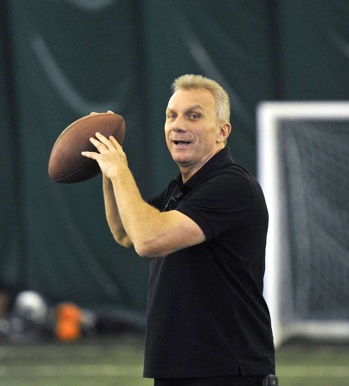 NFL legend Joe Montana held a passing camp at Crystal Palace Sports Centre The San Francisco 49ers are to play the Jacksonville Jaguars in game two, of the NFL International Series at Wembley Stadium in London on Sunday, October 27. 24/10/13, photo: Sean Ryan /NFL