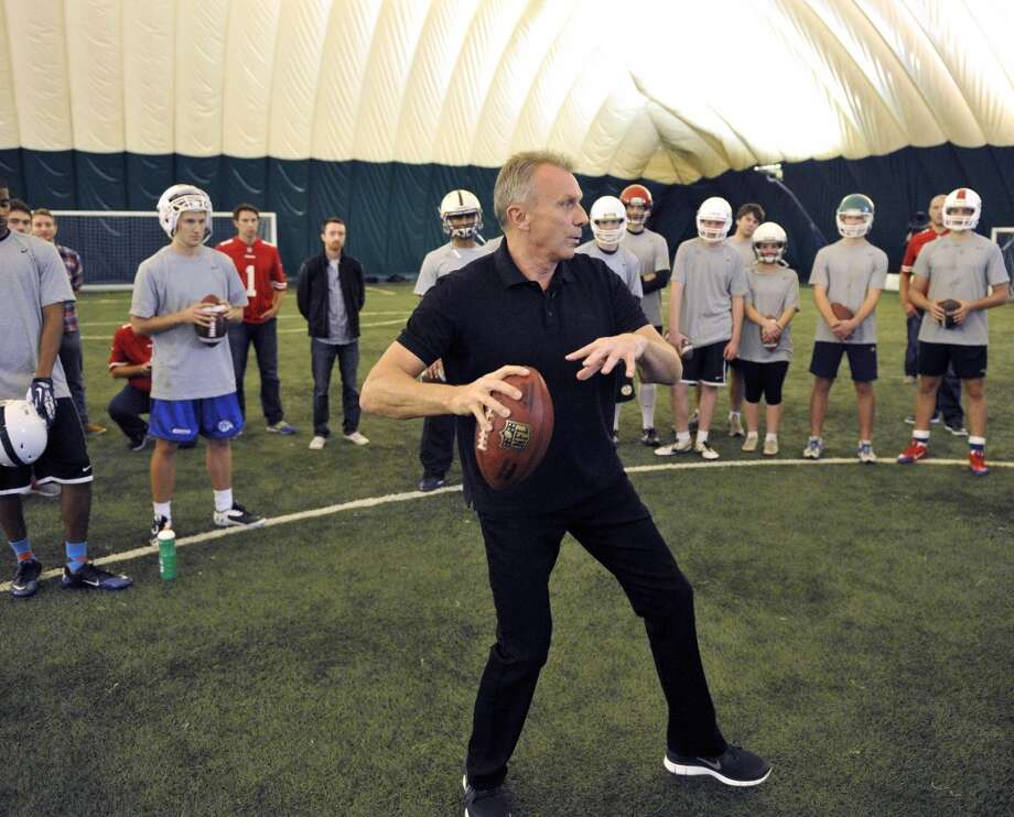 NFL legend Joe Montana held a passing camp at Crystal Palace Sports Centre The San Francisco 49ers are to play the Jacksonville Jaguars in game two, of the NFL International Series at Wembley Stadium in London on Sunday, October 27.  24/10/13, photo: Sean Ryan /NFL Photo: Sean Ryan, Sean Ryan NFL