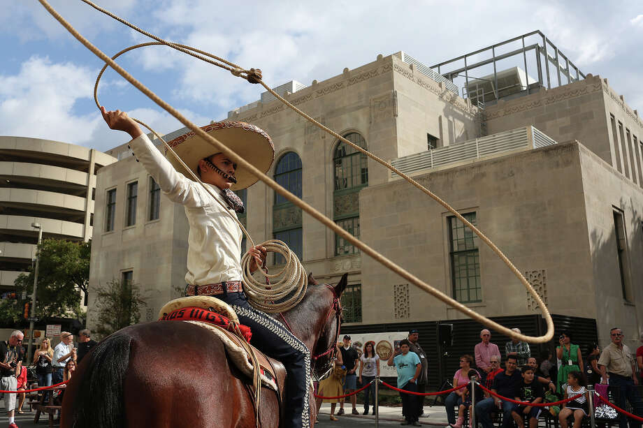 Edmundo Rios III, 17, performs with the San Antonio Charro Association during the grand opening celebration for the Briscoe Western Art Museum in San Antonio on Saturday, Oct. 26, 2013. Photo: Lisa Krantz, San Antonio Express-News / San Antonio Express-News