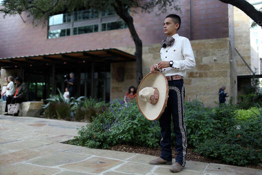 Edmundo Rios III, 17, watches the opening remarks at the during the grand opening celebration for the Briscoe Western Art Museum in San Antonio on Saturday, Oct. 26, 2013. Rios performed with the San Antonio Charro Association during the celebration. Photo: Lisa Krantz, San Antonio Express-News / San Antonio Express-News