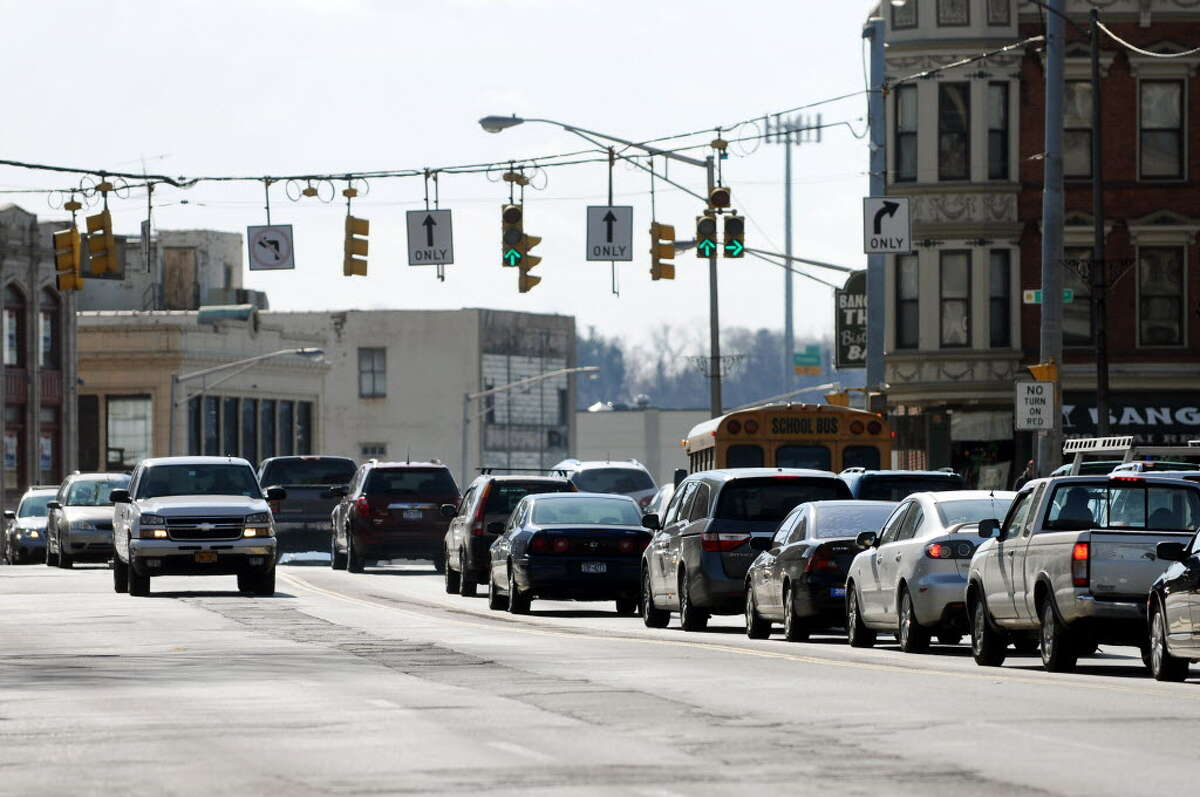 Erie Boulevard near State Street on Tuesday, Feb. 28, 2012, in Schenectady, N.Y. (Cindy Schultz / Times Union)