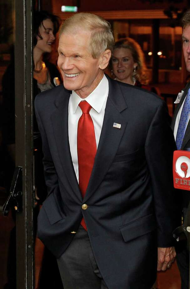U.S. Sen. Bill Nelson, D-Fla., arrives at his reelection party at a hotel, Tuesday, Nov. 6, 2012, in Orlando, Fla. Nelson defeated Republican Rep. Connie Mack in his bid for a third term. (AP Photo/John Raoux) Photo: John Raoux, STF / AP2012