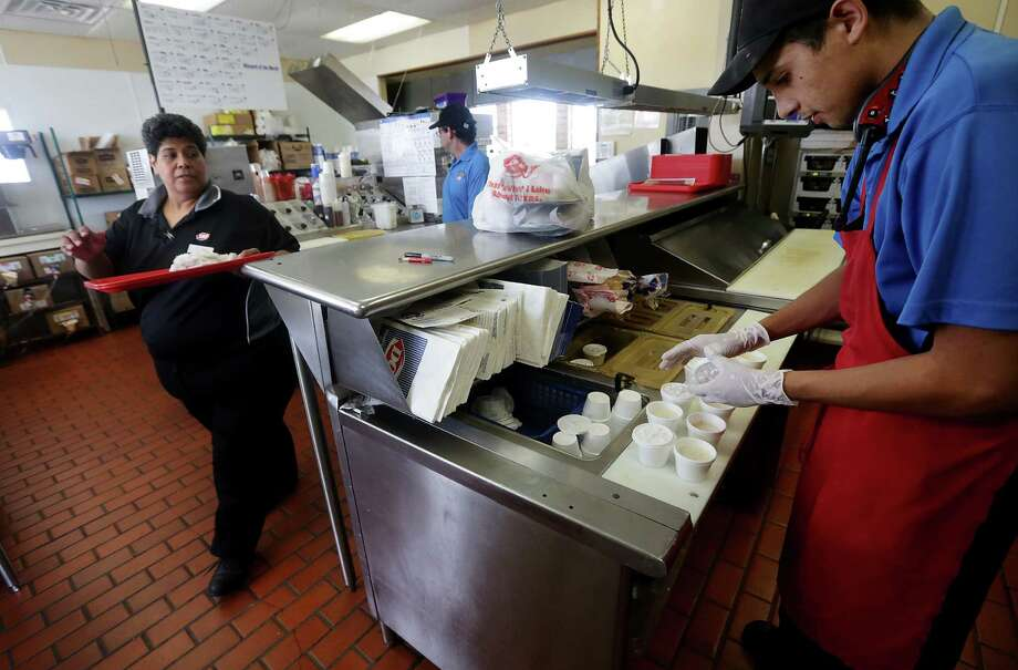 """Dairy Queen manager Irma Williams says, """"If 60 people walked in tomorrow looking for a job, I could put them all on the payroll."""" Photo: Bob Owen / San Antonio Express-News"""