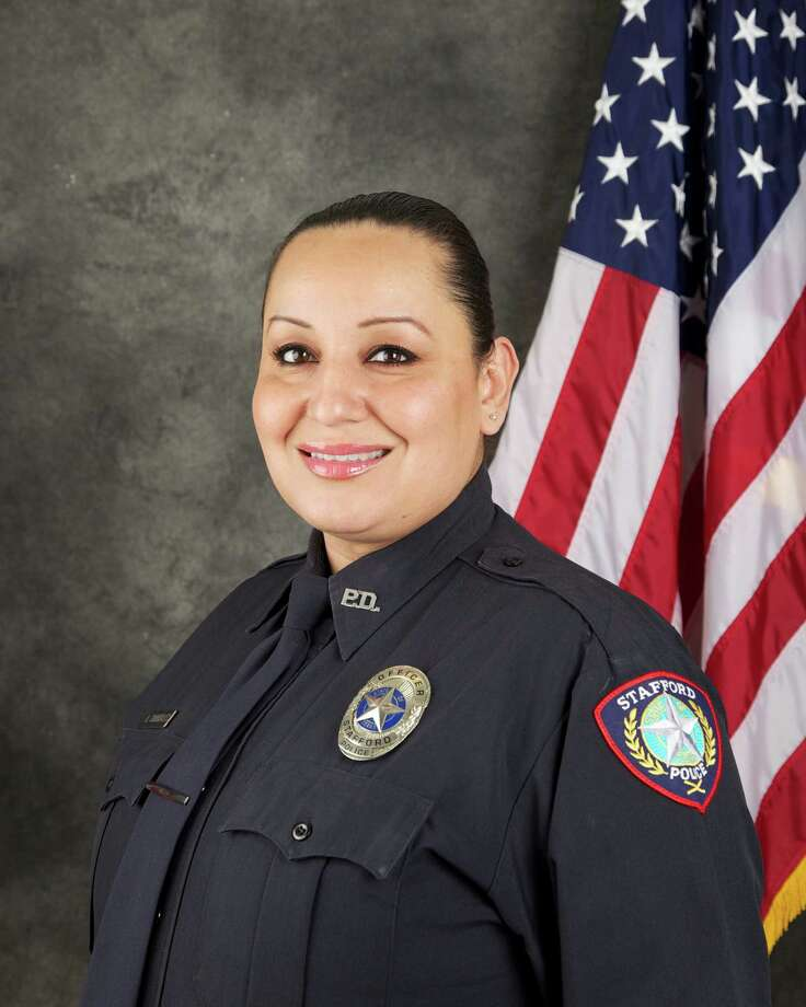 Stafford Police Officer Ann Carrizales was shot twice during a traffic stop. Despite her injuries, she pursued the suspects in a high-speed chase. Photo: Stafford Police Dept. / Stafford Police Dept.