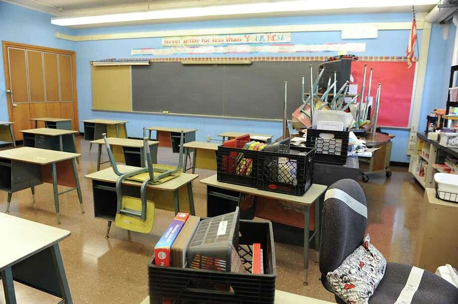 Classroom in School 2 Wednesday, July 3, 2013, in Troy, N.Y. Jason Goldner was recently hired as the new school principal (Lori Van Buren / Times Union) Photo: Lori Van Buren / 00023046A