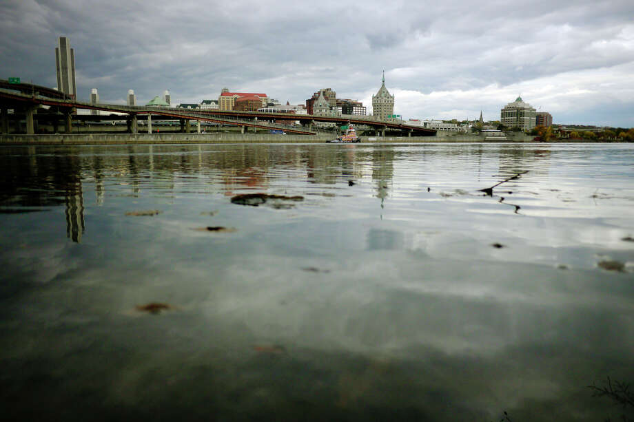 A view of the Hudson River and the city of Albany taken from the Rensselaer side on Wednesday, Oct. 23, 2013.   (Paul Buckowski / Times Union) Photo: Paul Buckowski / 00024361A