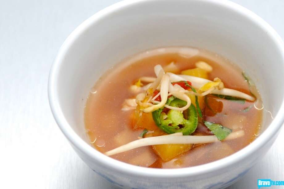 Fish Head Soup with Pineapple, Tomato, and Tamarind  Chef: Carlos Gaytan