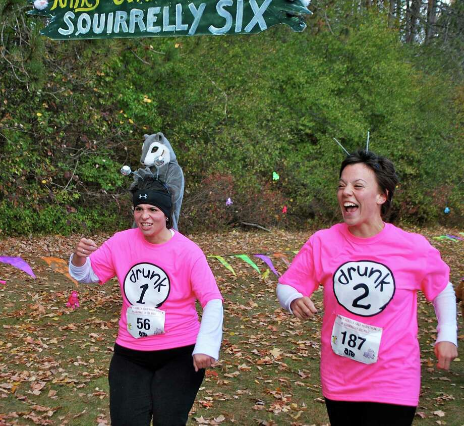 Were you Seen at the Hairy Gorilla Half Marathon and Squirrely Six Mile Trail Run at Thacher State Park on Sunday, Oct. 27, 2013? Photo: Silvia Meder Lilly