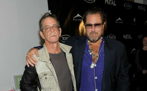 """TORONTO, ON - SEPTEMBER 13:  Musician Lou Reed (L) and director/artist Julian Schnabel attend The Weinstein and Alliance Pictures Party for """"Miral"""" hosted by TOD'S held at the Art Gallery of Toronto during the 2010 Toronto International Film Festival on September 13, 2010 in Toronto, Canada.  (Photo by Charley Gallay/Getty Images for TOD's) Photo: Getty Images For TOD's"""