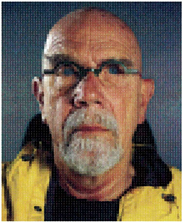 Work by living legend Chuck Close will be on view during the Bridgeport Art Trail Nov. 7-10 at the Housatonic Museum of Art at Housatonic Community College. Above is a self-portrait. Photo: Contributed Photo / Connecticut Post Contributed